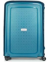 Samsonite - S'cure Dlx Spinner 69 Men's Hard Suitcase In Blue - Lyst