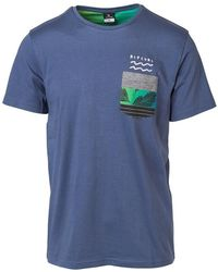 Rip Curl - Modern Pocket Tee Ctebe5 Men's T Shirt In Blue - Lyst