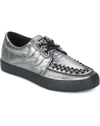 d06d41cdeee T.U.K. - Creepers Trainers Men s Casual Shoes In Silver - Lyst