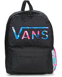 60d903b7b81f4b Vans - Realm Backpack Women s Backpack In Black - Lyst