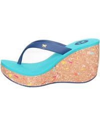 Zaxy - 81759 90109 Women's Flip Flops / Sandals (shoes) In Blue - Lyst