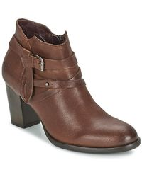 Marc O'polo - Caldew Women's Low Ankle Boots In Brown - Lyst