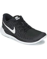 47f714baf343 Nike Free Rn Flyknit 2017 Women s Running Shoes in Black - Lyst