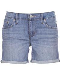 4655a5b2 Levi's - Levis Mid Length Short Women's Shorts In Blue - Lyst