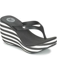 Zaxy - Lipstick V Women's Flip Flops / Sandals (shoes) In Black - Lyst