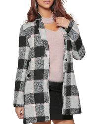 Infinie Passion - Mid-length Coat Pink Woman Autumn/winter Collection 17 Women's Coat In Pink - Lyst