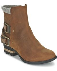 Sorel - Lolla Women's Mid Boots In Brown - Lyst