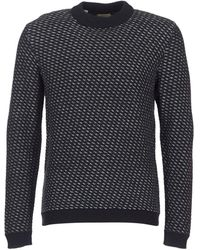 SELECTED - Twill Men's Sweater In Blue - Lyst