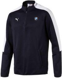 PUMA - BMW MS T7 1/2 Zip Track F1 hommes Sweat-shirt en bleu - Lyst