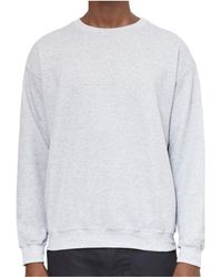The Idle Man - Classic Sweatshirt Light Grey Men's Sweatshirt In Grey - Lyst