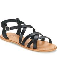 So Size - Goppo Women's Sandals In Black - Lyst
