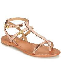 Les Tropéziennes Par M Belarbi - Baie Women's Sandals In Pink - Lyst