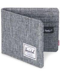 Herschel Supply Co. - Porte Feuille Roy + Coin RFID femmes Portefeuille en Gris - Lyst