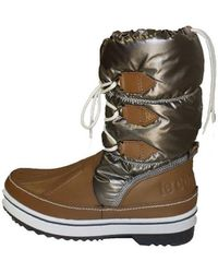 Le Coq Sportif - Moonboot Minka Women's Snow Boots In Grey - Lyst