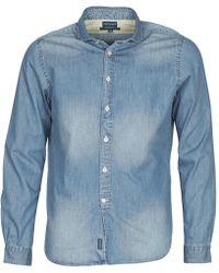 Façonnable | Plusamo Men's Long Sleeved Shirt In Blue | Lyst