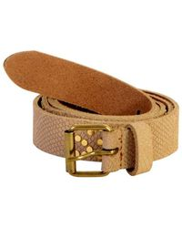 Le Temps Des Cerises | Belt The Time Of Cherries Fancy Python Beige Matte Women's Belt In Beige | Lyst