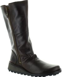 Fly London - Migo Women's High Boots In Brown - Lyst