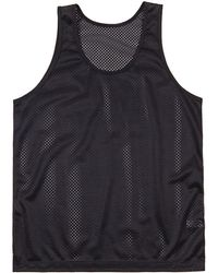 American Apparel - Unisex Lightweight Mesh Sports Vest/tank Top Men's Vest Top In Black - Lyst