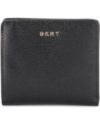 DKNY - Bryant Black Leather Wallet Women's Purse Wallet In Black - Lyst