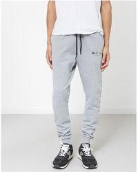 Nicce London - Joggers Grey Men's Sportswear In Grey - Lyst