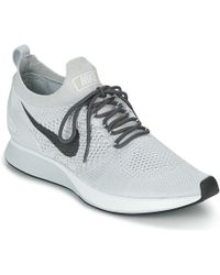1a5c96aa0600ab Nike - Air Zoom Mariah Flyknit Racer Men s Shoes (trainers) In White - Lyst
