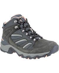 Hi-Tec - Idaho Ladies Boot Women's Shoes (high-top Trainers) In Grey - Lyst