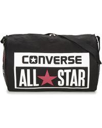 Converse - Legacy Barrel Duffel Bag Women's Sports Bag In Black - Lyst