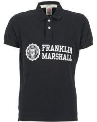 Franklin & Marshall - Aylen Men's Polo Shirt In Black - Lyst