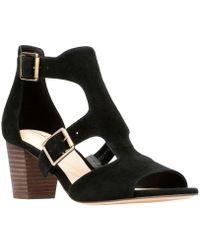Clarks - Deloria Kay Womens Heeled Sandal Women's Sandals In Black - Lyst