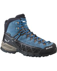 Salewa - Ms Alp Flow Mid Gtx Men's Shoes (high-top Trainers) In Blue - Lyst