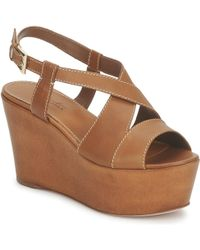 Sebastian - S5270 Women's Sandals In Beige - Lyst