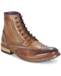Ted Baker - Hjenno Men's Mid Boots In Brown - Lyst
