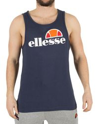 23e06d2dc5 Ellesse Men's Frattini Graphic Vest, White Men's Vest Top In White ...