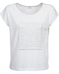 S.oliver - Altoona Women's T Shirt In White - Lyst
