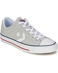45d83824df12df Converse - Star Player Core Canv Ox Women s Shoes (trainers) In Grey - Lyst