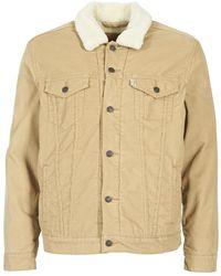 Levi's - Levis Good Sherpa Trucker Men's Denim Jacket In Beige - Lyst