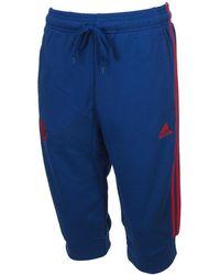 adidas - Manchester 3/4pant mufc hommes Short en bleu - Lyst
