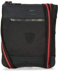 PUMA - Ferrari Ls Flat Portable Men's Pouch In Black - Lyst
