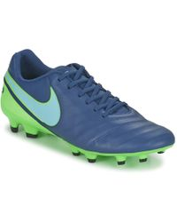save off 53874 b0873 nike tiempo football boots blue for cheap