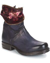 A.S.98 - SAINT EC FLOWER femmes Boots en bleu - Lyst · Chanel - Bottes en  cuir ... 1922754b164