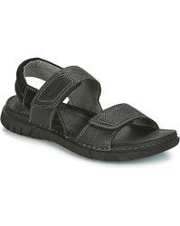 Josef Seibel - Jim 05 Men's Sandals In Black - Lyst