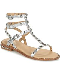 Ash - Poision Sandals Silver - Lyst