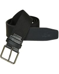8a0e7a4aa3215 Lacoste Textile Signature Croc Logo Belt in Green for Men - Lyst