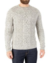 Only & Sons - Men's Heather Cable Knit, Beige Men's Jumper In Beige - Lyst