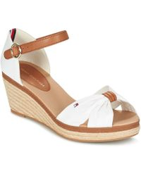 d6af80df36239 Tommy Hilfiger Fw0fw02249 Women s Sandals In White in White - Lyst