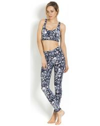 Maaji - Reversible Fitness Bra Yoga Grey Floral - Enchanted Spirit Women's In Grey - Lyst
