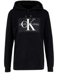 c0bda54749 Calvin Klein - Monogram Box Relaxed Hoodie Women s Sweatshirt In  Multicolour - Lyst
