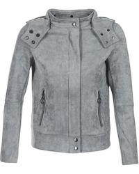 Bench - Alcantara Biker Jkt Women's Jacket In Grey - Lyst