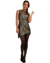 Madam Rage - Short Dress Sheila Black / Gold Woman Autumn/winter Collection Women's Dress In Black - Lyst