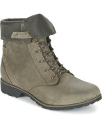 Teva - Delavina Lace Women's Mid Boots In Grey - Lyst